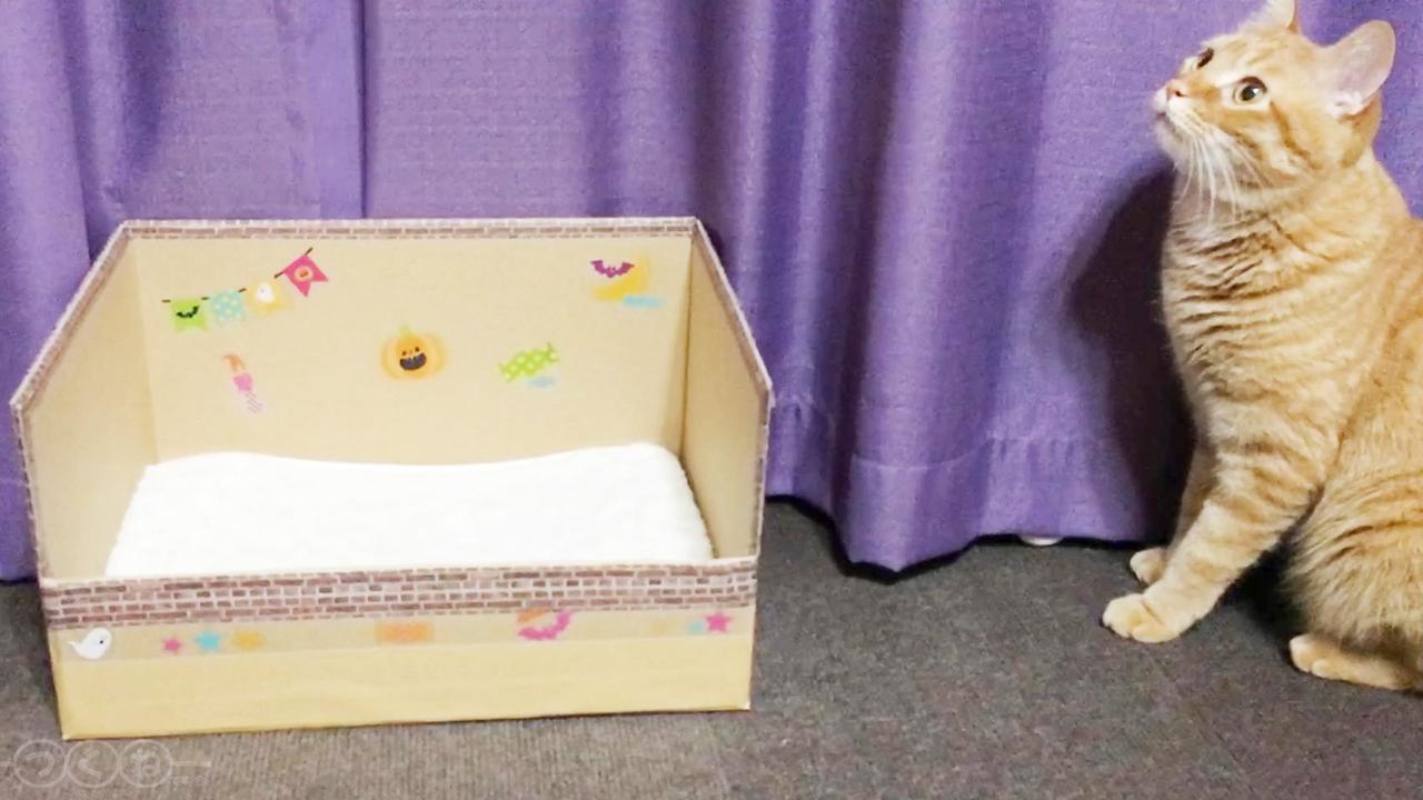 ダンボール箱を装飾
